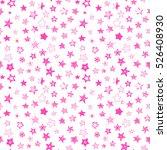 stars pink doodle cartoon style ... | Shutterstock .eps vector #526408930