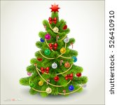 christmas fir tree. vector eps... | Shutterstock .eps vector #526410910
