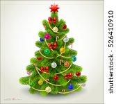 christmas fir tree. vector eps... | Shutterstock .eps vector #526410910