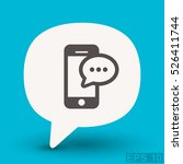 pictograph of message or chat... | Shutterstock .eps vector #526411744