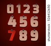 the set of numbers of cardboard.... | Shutterstock .eps vector #526412650