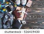 overhead view of traveler...   Shutterstock . vector #526419430