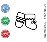 web line icon. baby's bootees