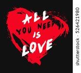 grunge valentine greeting card... | Shutterstock .eps vector #526421980