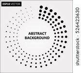 design spiral dots backdrop.... | Shutterstock .eps vector #526423630