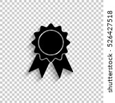 badge with ribbons   black... | Shutterstock .eps vector #526427518