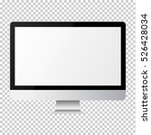 imac style screen monitor for... | Shutterstock .eps vector #526428034