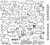 hand drawn vector set of... | Shutterstock .eps vector #526430164