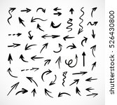 hand drawn arrows  vector set | Shutterstock .eps vector #526430800