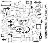 arrows graphic doodle hand... | Shutterstock .eps vector #526431994