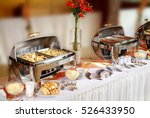 buffet catering table food... | Shutterstock . vector #526433950