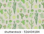 cactus vector pattern | Shutterstock .eps vector #526434184