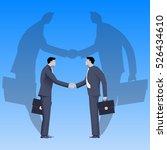 global deal business concept.... | Shutterstock .eps vector #526434610