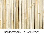White Bamboo Fence Background.