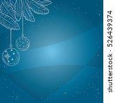 hand drawn christmas... | Shutterstock .eps vector #526439374