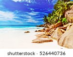 tropical island. the seychelles.... | Shutterstock . vector #526440736