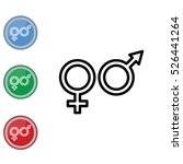 web line icon. gender symbol ... | Shutterstock .eps vector #526441264