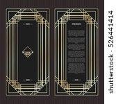 vector geometric cards in art... | Shutterstock .eps vector #526441414
