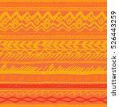 orange ethnic pattern vector... | Shutterstock .eps vector #526443259