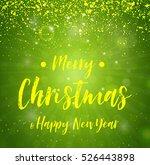 merry christmas   green... | Shutterstock .eps vector #526443898