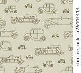 retro car pattern vector... | Shutterstock .eps vector #526444414