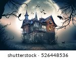 haunted house with dark horror... | Shutterstock . vector #526448536