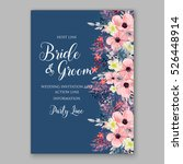 wedding invitation floral... | Shutterstock .eps vector #526448914