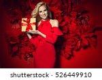 beautiful young elegant woman... | Shutterstock . vector #526449910