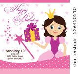 princess party invitation | Shutterstock .eps vector #526450510