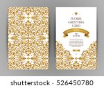 ornate vintage cards. golden... | Shutterstock .eps vector #526450780