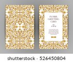 ornate vintage cards. golden... | Shutterstock .eps vector #526450804