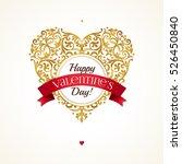 ornate golden vector heart in... | Shutterstock .eps vector #526450840