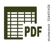 document icon  flat design style | Shutterstock .eps vector #526451428