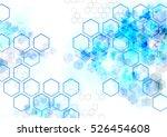 geometric hexagon abstract... | Shutterstock .eps vector #526454608
