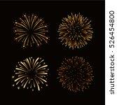 fireworks set gold isolated.... | Shutterstock .eps vector #526454800