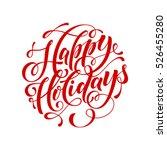 vector text calligraphy happy... | Shutterstock .eps vector #526455280