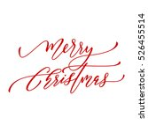 merry christmas vector text... | Shutterstock .eps vector #526455514