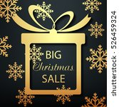 christmas gift box. big sale ... | Shutterstock .eps vector #526459324