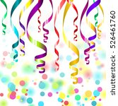 confetti and streamers | Shutterstock .eps vector #526461760