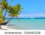 tropical beach  lagoon ... | Shutterstock . vector #526465228