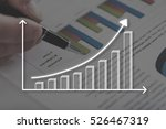 graph concept illustrated by a... | Shutterstock . vector #526467319