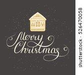 simple christmas card design... | Shutterstock .eps vector #526470058