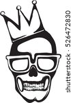 skull logo with crown black and ... | Shutterstock .eps vector #526472830