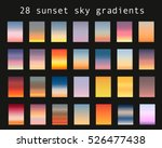Vector Set Of Sunset Sky...
