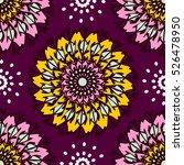 seamless mandala pattern. for... | Shutterstock .eps vector #526478950