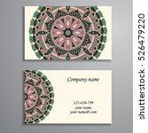 business card. vintage... | Shutterstock .eps vector #526479220
