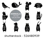 Set Of Eleven Cute Animals Wit...