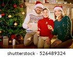 christmas night | Shutterstock . vector #526489324