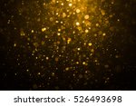 Abstract Gold Bokeh Black Background - Fine Art prints