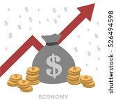 bag with money. economy. vector | Shutterstock .eps vector #526494598